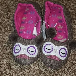 Shoes - OWL KNIT SLIPPERS